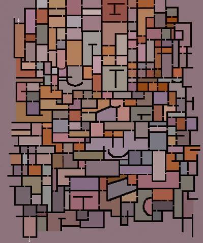 Mondrian maze