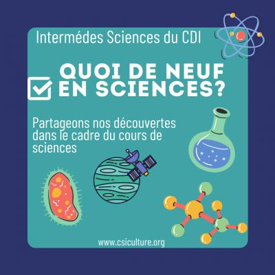 Quoi de neuf en sciences